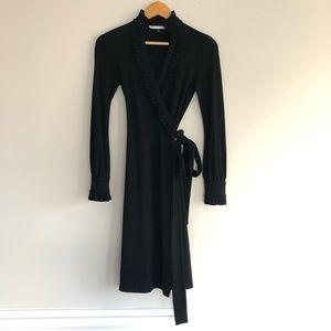 Diane Von Furstenberg Volante Wool Wrap Dress